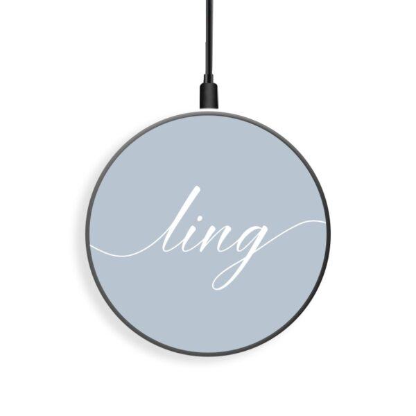 禮贈品採購禮贈品 客製化無線充電盤 文字設計