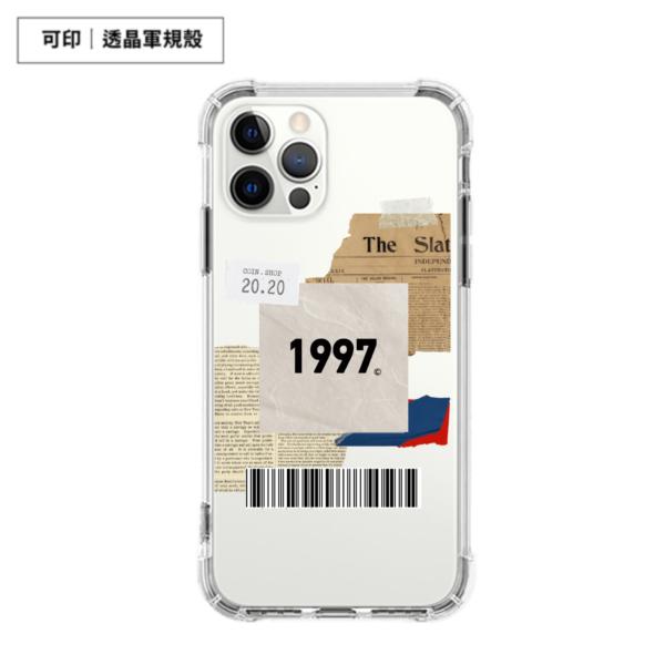 【客製化】個性標籤載具款 可印透晶軍規殼 iPhone